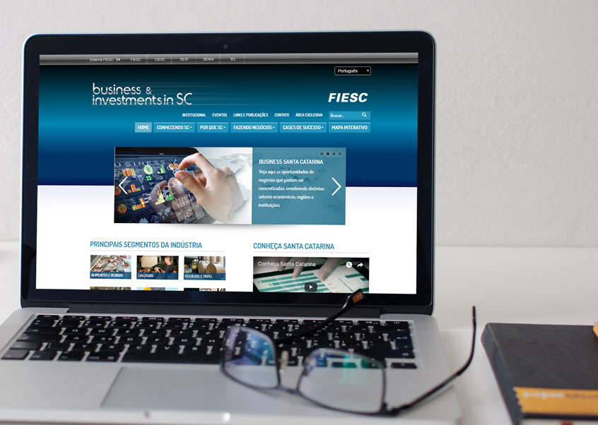 Labbo Desenvolve para a FIESC o Portal Business and Investments in SC